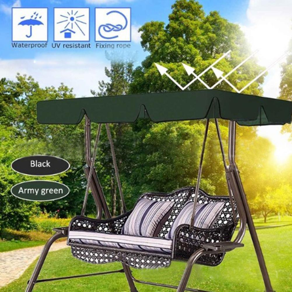 Waterproof Upper Garden Patio Swing Seating Seat Chair Cover Deck Outdoor Sailing Swing Tent