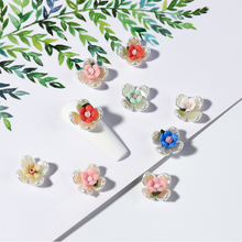1Pc Ceramic Flower Exquisite Manicure Accessories 3D Rose Nail Jewelry Nail Art Flower Decoration DIY Nail Art Ornaments