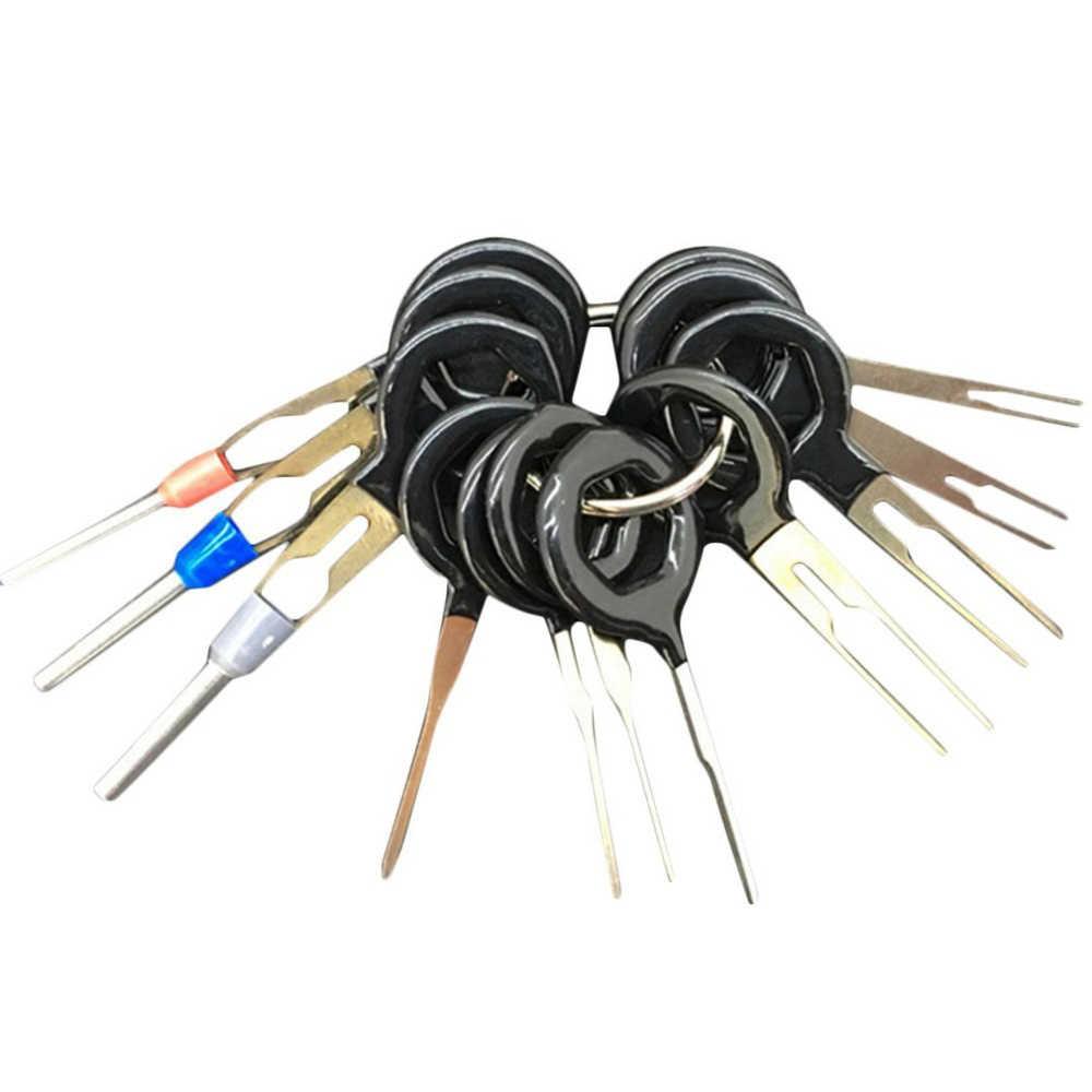 18 шт., 11 шт., инструмент для удаления проводов автомобиля, электропроводка, обжимной соединитель, контактный экстрактор, набор, инструмент для сбора автомобильных вилок