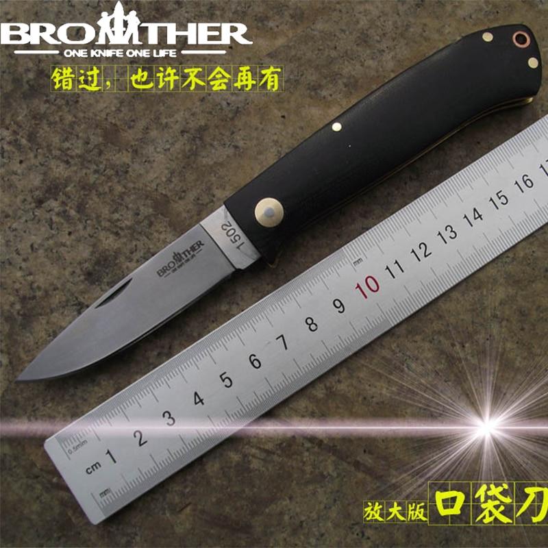 Steel G10 Pocket Folder 440C Blade Handle Knife Folding Tool Collection Tactical 1502 Knives Survival Knife EDC Brother