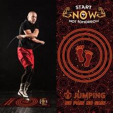 Tapete de borracha de salto antiderrapante com corda de salto esteira de yoga tapete de salto silencioso tapete de fitness para treino ginásio exercício almofada de esportes