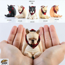 In Stock JXK JXK045 French Bulldog with Scarf Cute Animal Pet Statue Decadent Dog Model for Kids Gift Collection