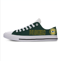 Packers Classic Canvas Lightweight Fashion Men/Women Casual Shoes Breathable Flat Leisure Sneakers For Green Bay Football Fans