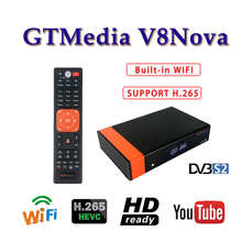 Best stable satellite finder Gtmedia V8 NOVA TV receiver H.265 DVB-S support 1 year europe cccam cline 2 Spain tv decoder