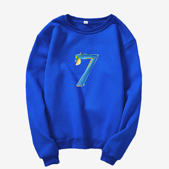 2020 k-pop Bangtan Boys map of the soul 7 itunes letter printing Round neck sweatshFashion Women's Clothing Sweatshirt image