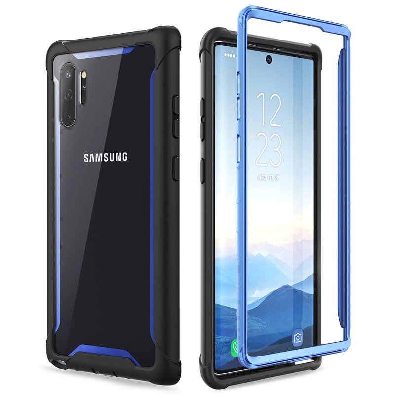 Voor Samsung Galaxy Note 10 Plus Case (2019) i-Blason Ares Full-Body Robuuste Clear Bumper Cover ZONDER Ingebouwde Screen Protector