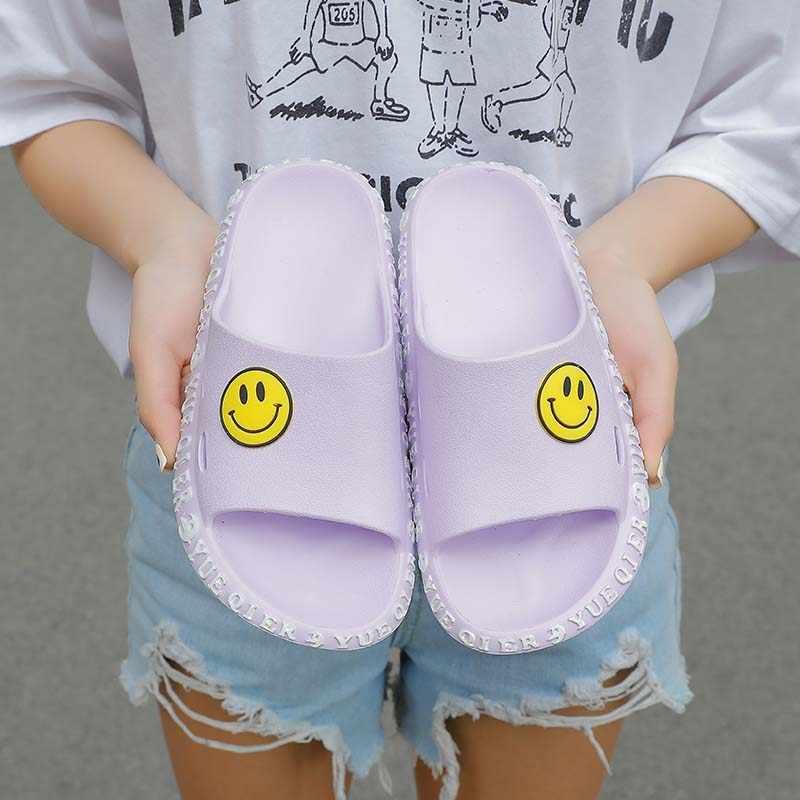 2020 الرجال والنساء فسيح الصيف الشرائح الراحة أحذية ماء إيفا خفيفة الوزن نعال شاطئ الصنادل عدم الانزلاق ابتسامة الوجه