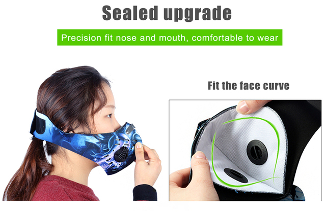 WEST BIKING PM2.5 Sport Face Mask Anti Dust Activated Carbon Filter Cycling Mask bacteria proof Flu Mouth-muffle Face masks 3