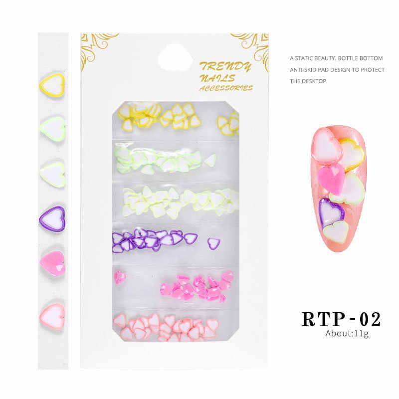 Thời Trang Love Softpottery Acrylic Bột Thông Khắc Polymer Tinh Thể 3D Móng Tay Nghệ Thuật Tinh Thể Loại Bột Poly Gel Đầu Người Xây Dựng FO Móng Tay