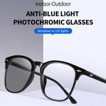 Dankeyisi nova moda anti-azul luz photochromic óculos interiores óculos de sol ao ar livre cor mudou proteger olho eyewwear