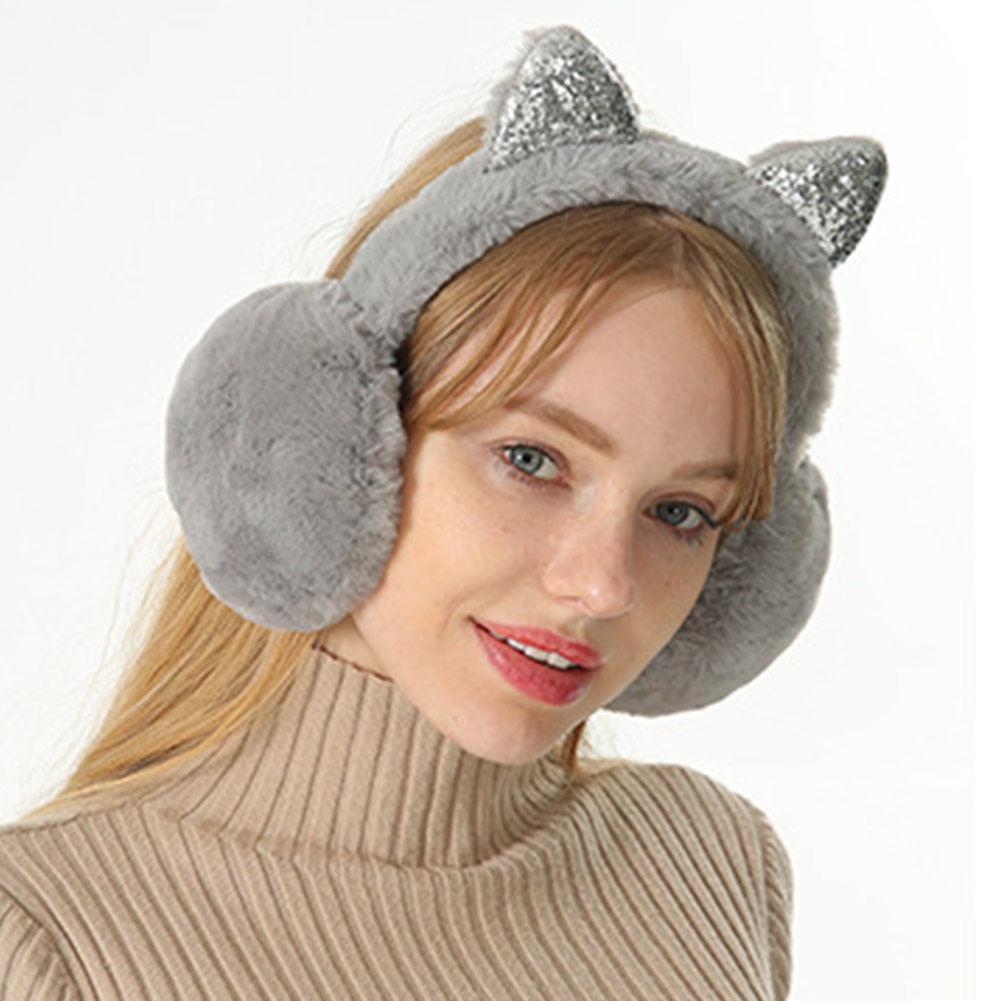 Women Earmuffs Cartoon Cat Ears Windproof Ears Warm Adjustable Earmuffs HSJ88