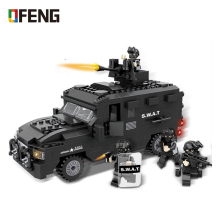 City Police SWAT Explosion-proof Car Figure Blocks Christmas Gift Construction Building Bricks Toys For Children 6509