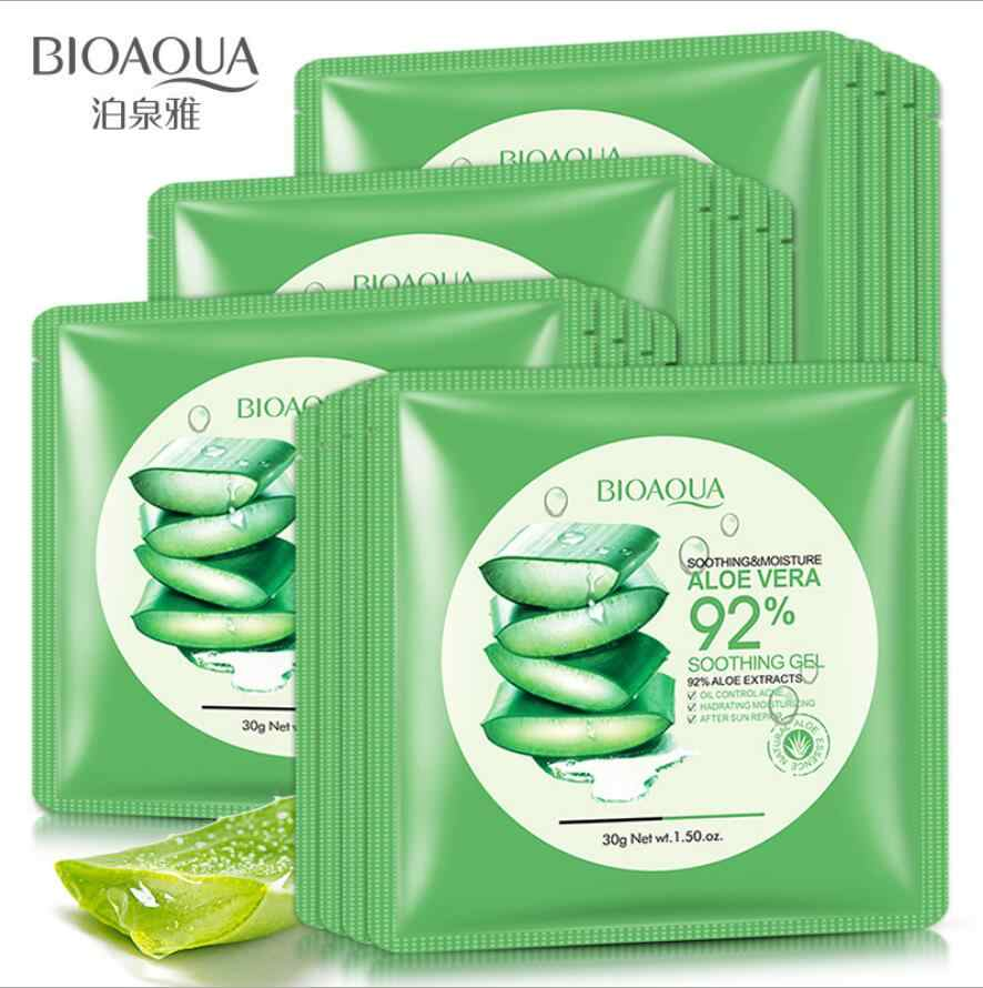 1pcs Aloe Vera Facial Mask Skin Care Face Mask Whitening Hydrating Moisturizing Lasting Moisture Mask Skin Care