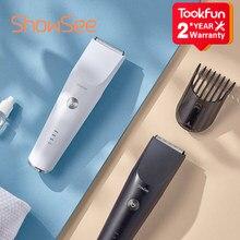 ShowSee elektryczna maszynka do strzyżenia włosów przenośny trymer do cięcia fryzjer profesjonalny wybór ceramiczne ostrze bezprzewodowe golenie