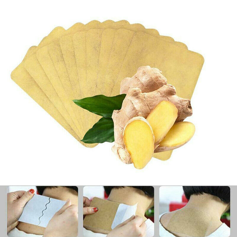 10Pcs Ginger Detox Patch Neck Back Body Pain Relaxation Body Detox Foot Patch Pain Relief Ginger Adhesive Pads Health Care TSLM1