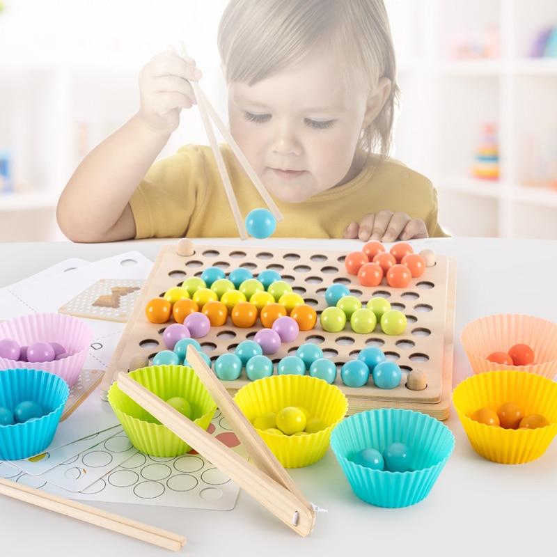 Игрушка деревянная Монтессори для раннего развития ребенка