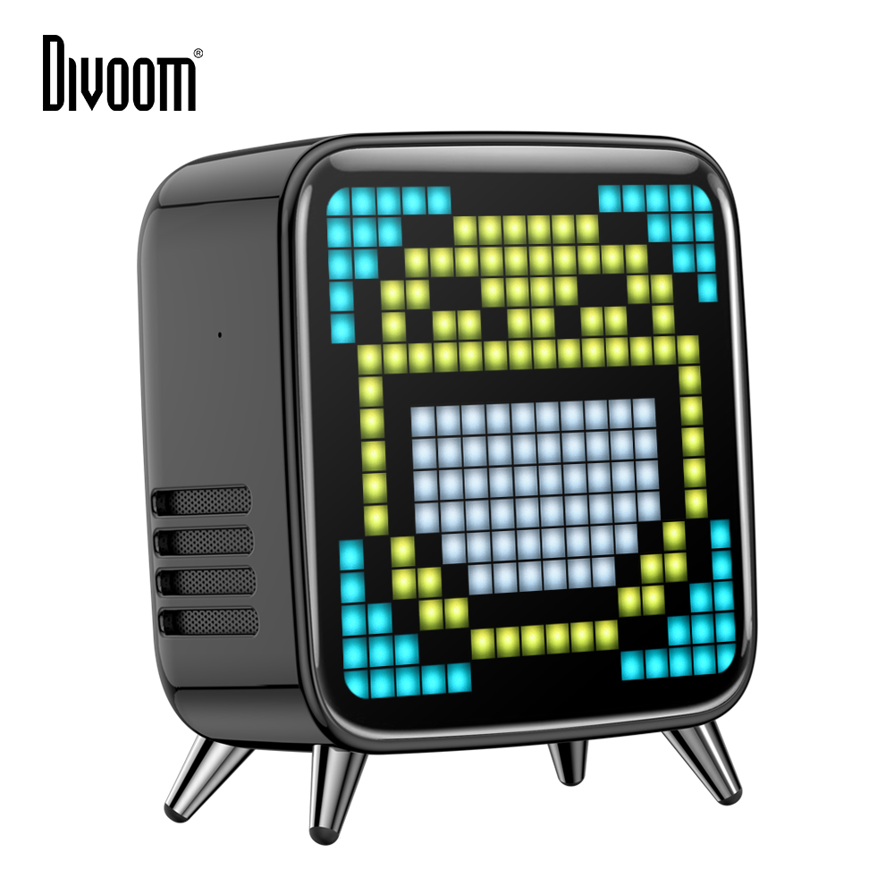 Divoom Tivoo Max Pixel Art Bluetooth Wireless Speaker with 2 1 Audio System 40W Output Heavy