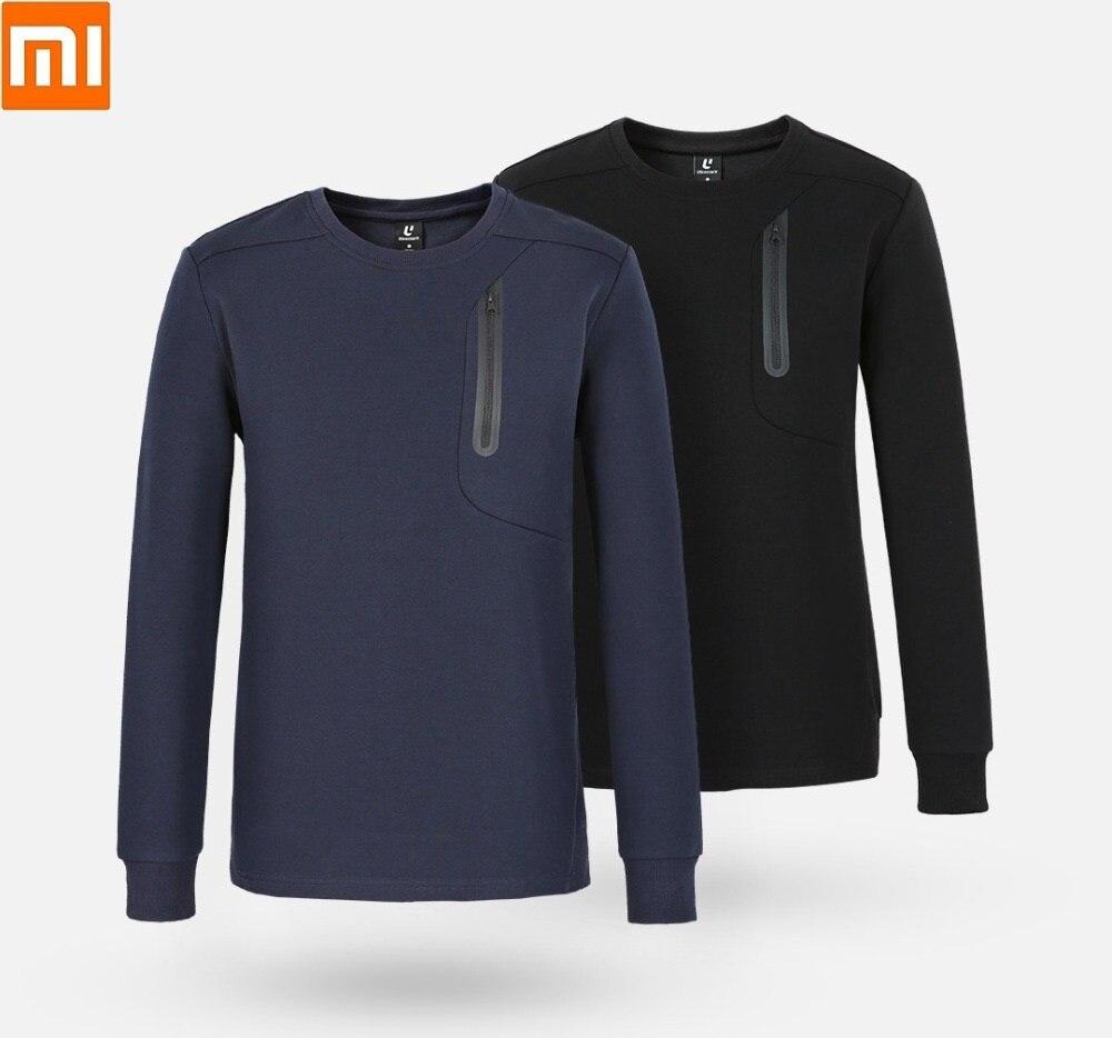 Xiaomi Uleemark Fashion Men's Crew Neck Sports Sweater Skin-friendly Fabric Reflective Strip Design Spring Autumn Coat