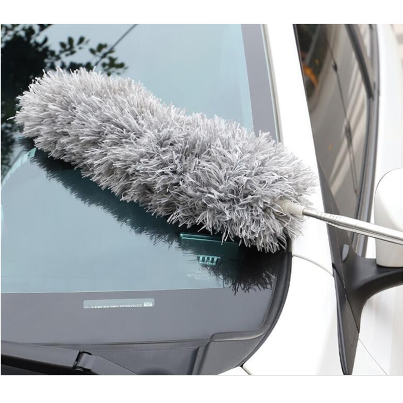 Adjustable&Bendable Duster Dust Cleaner Extend Stretch Microfiber Feather Duster Furniture Dust Brush Car Cleaning Accessories