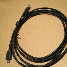 USB עכבר כבל שונה כדי אוזניות חוט עבור Logitech G533 G633 G933 אוזניות החלפת טעינת כבל קו