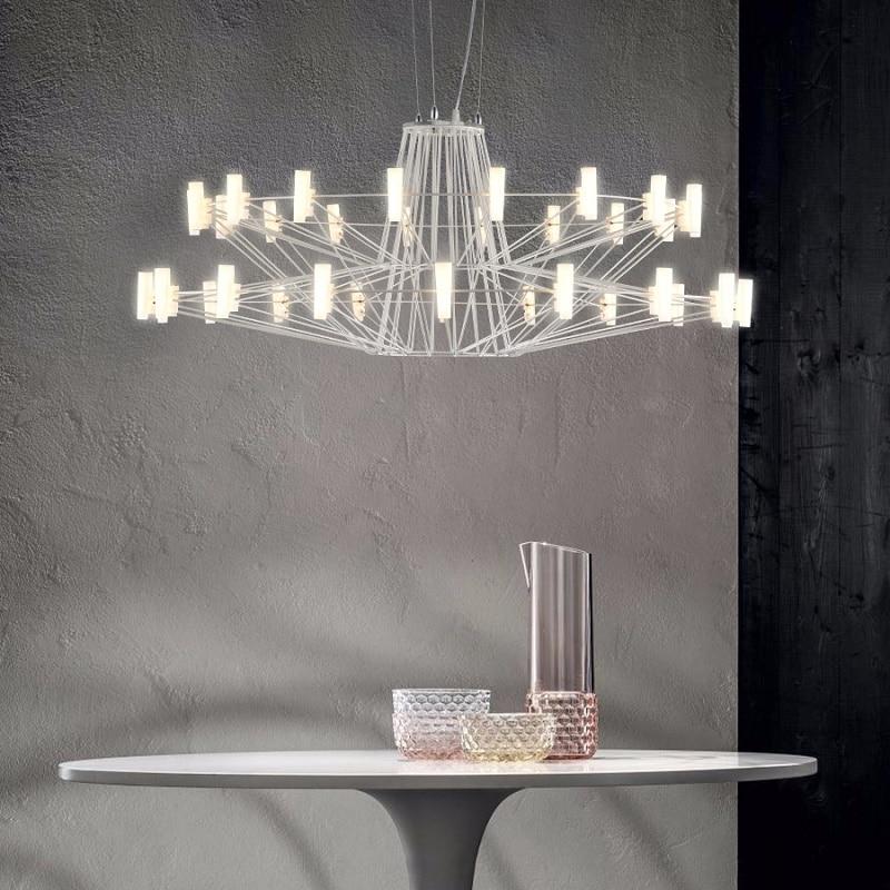 Скандинавский дизайн Led Chandelie трехэтажная люстра с башней используется для гостиной, столовой, отеля, лобби, Современное креативное