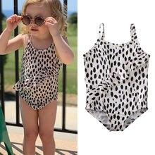 Kids Baby Girl Swimsuit Summer Sling Toddler Infant Leopard Printed Bikini Set One-piece Swimwear Bathing Suit Beachwear Biquini