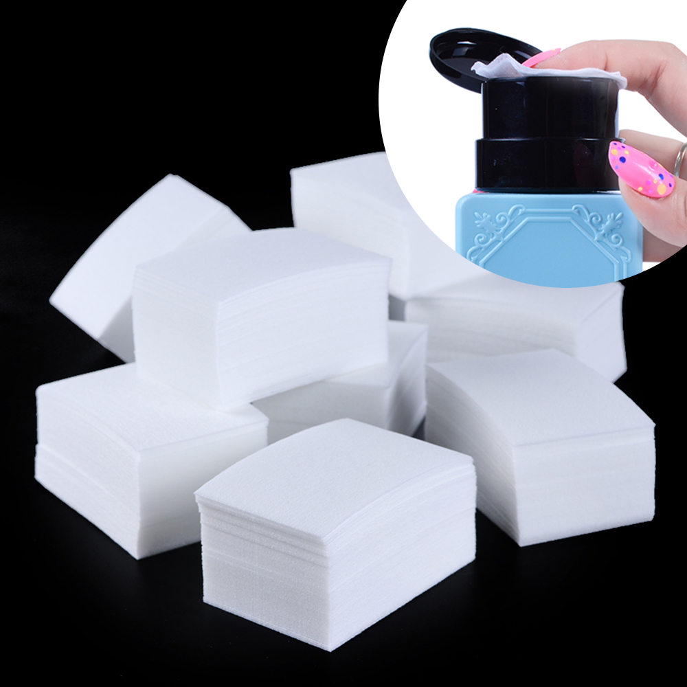 900pcs/pack Nail Tools Manicure Gel Nail Polish Remover Lint-Free Wipes Cotton Napkins For Nails Lint Pad Paper Manicure BE253-1