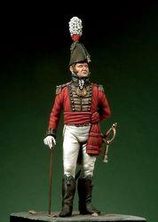 1/32 conjunto de resina figura kit tenente britânico
