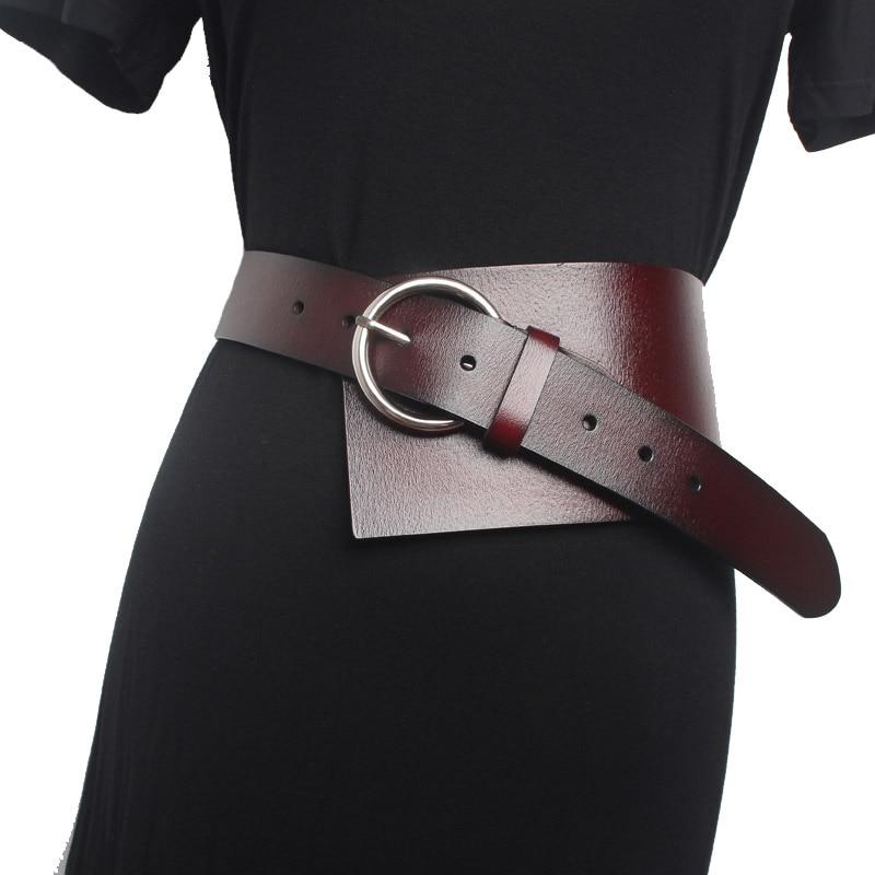 Fashion Wide Belts For Women Luxury Genuine Leather Waist Corset Belt Cummerbund Female Dress Belts Decorate Waistband Accessory