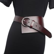 Fashion Wide Belts For Women Luxury Genuine Leather Waist Corset Belt