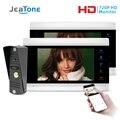 JeaTone новый 7 дюймов WiFi смарт IP видео домофон система с AHD 1.0MP проводной дверной звонок камера Поддержка дистанционного разблокирования