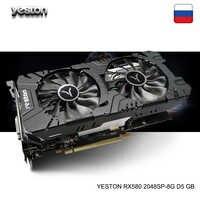 Yeston Radeon RX 580 GPU 8GB GDDR5 256bit komputer stacjonarny do gier wideo do komputera karty graficzne obsługa DVI/HDMI PCI-E X16 3.0