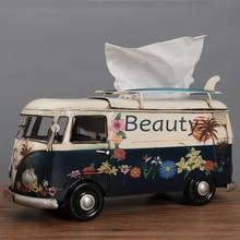 Креативный ящик для салфеток в американском ретро-стиле, коробка для салфеток, автомобиль, фургон, автобус, бар, ресторан, гостиница, домашни...