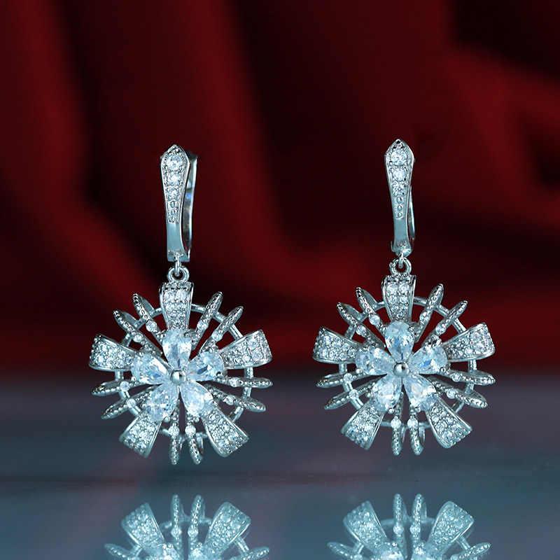Wick Dolly ใหม่พู่ต่างหูสามารถ swing สุภาพสตรีแฟชั่นขุนนางงานแต่งงานเครื่องประดับ 585 rose gold ธรรมชาติ zircon bohemian earri