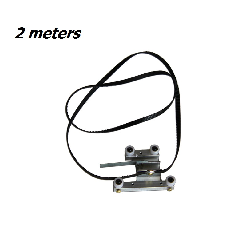 2 meters 5.8mm belts 4 wheels linear rail car for CO2 laser heads Special four-wheel trolley with synchronous belt