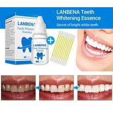 Teeth Whitening Essence 10ml Tooth Brighten Liquid With Cotton Swabs Dental Cleansing Serum to Remove Tooth Stains TSLM2 LANBENA
