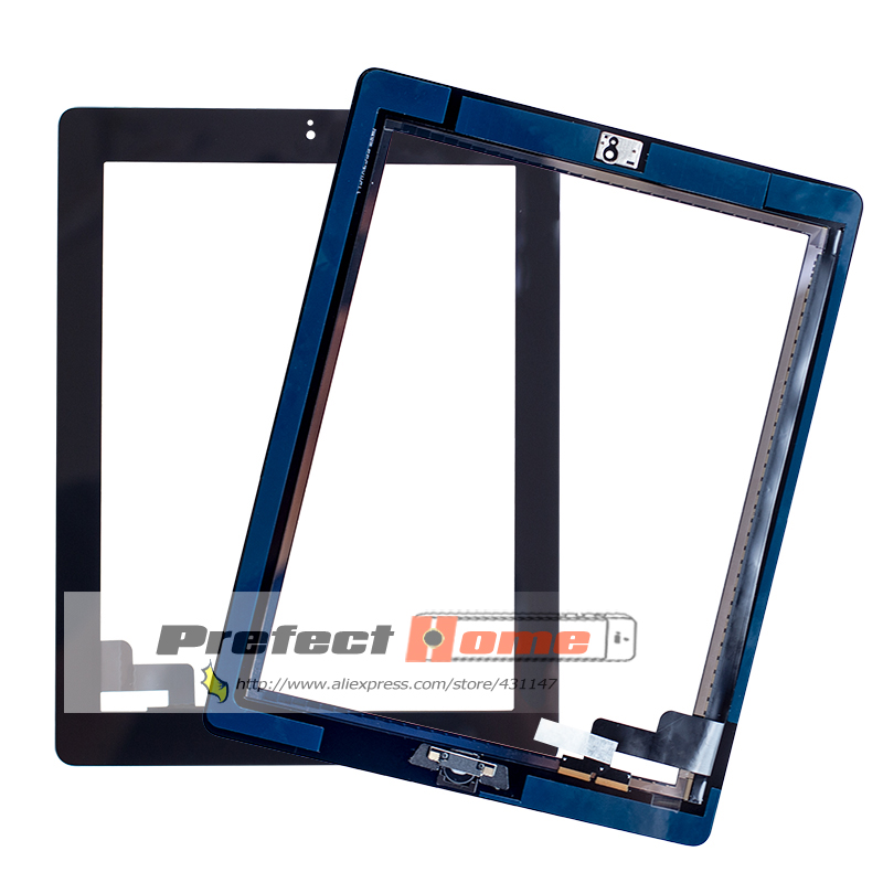 10Pcs lot Touch Screen Glass Digitizer Replacement Home Button adhesive camera hold for iPad 2 A1395