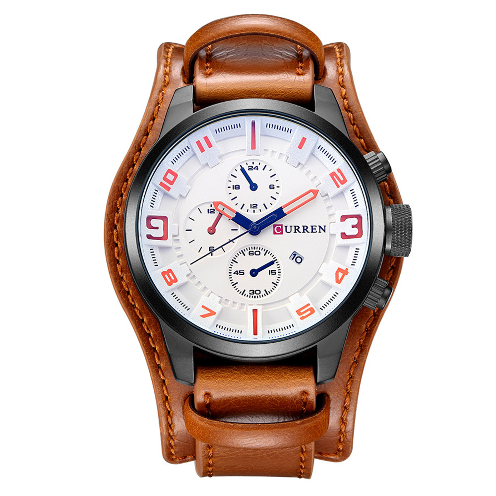 CURREN 2020 Quartz Mens Watches Fashion Personality Top Brand Luxury Leather Men Watch Casual Sport Automatic Chronograph Simple