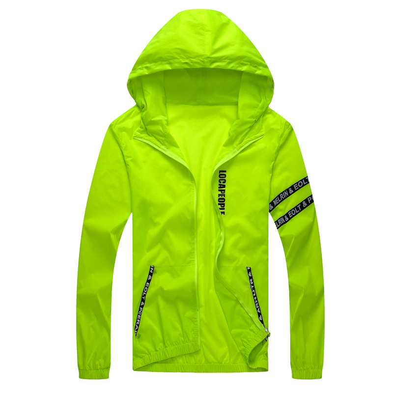 Jacket men windbreaker spring autumn fashion jacket men hooded jackets casual male thin Sun protection coat M 4XL