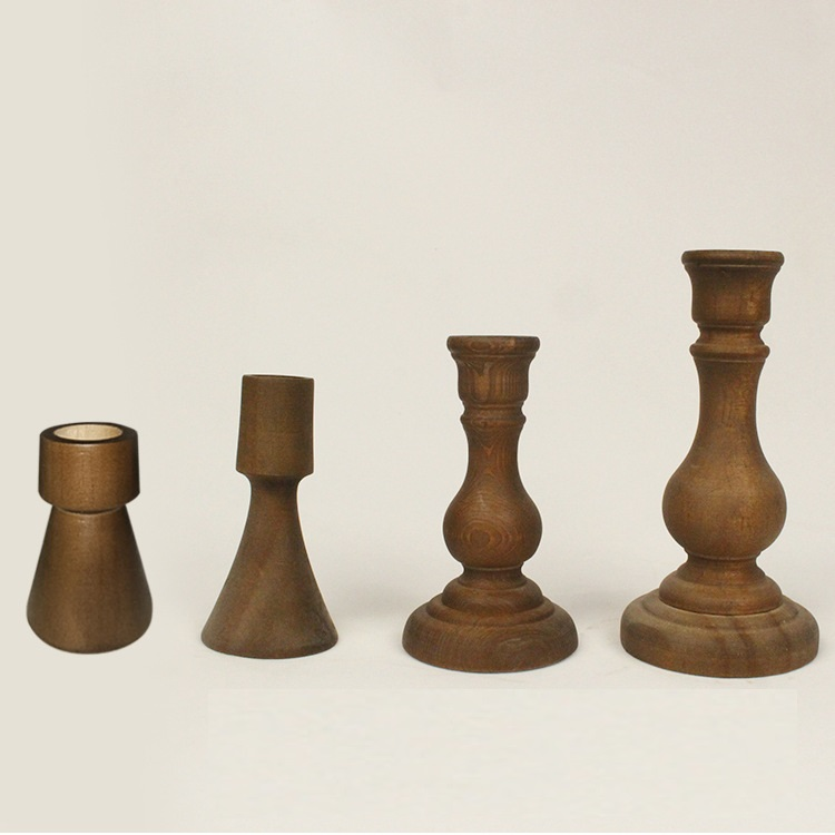 Wooden Candle Holder Retro Candle Stands