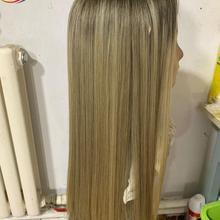 Perruque européenne en dentelle à racines foncées, nouvelle collection, couleur Blonde, perruque européenne, perruque musulmane