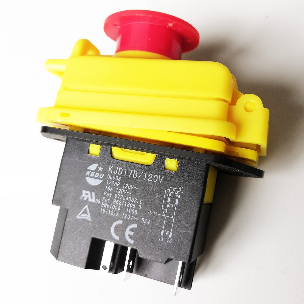 110v Woodworking No Volt Release Switch NVR Stand Alone Switch /& Emerg
