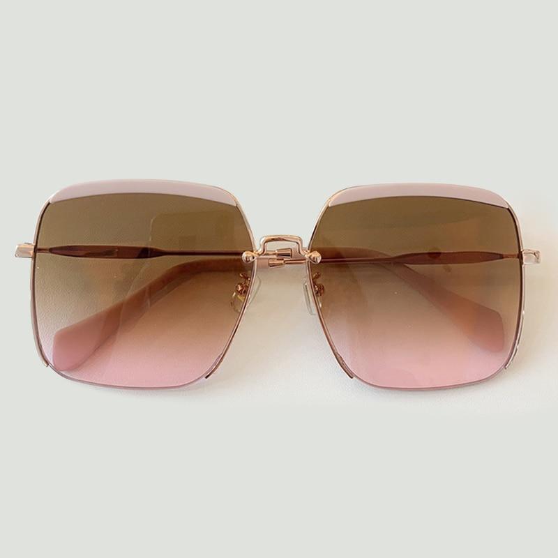 Big Frame Square Sunglasses Women Men Luxury Brand Designer Women Mirror Sun Glasses Vintage Female
