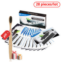 Tongwode 28 pcs Teeth Whitening Strips Dental Veneers Polishing Tooth Tartar Activated Charcoal Strip for Oral Hygiene