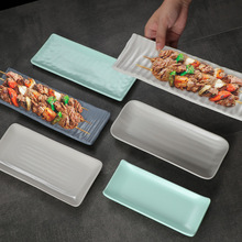 Rectangular plate of melamine barbecue special dish for sushi cold dish commercial dish Chinese hot pot dish plastic dinner 28oz lemon dish deterg 148975 pack of 12