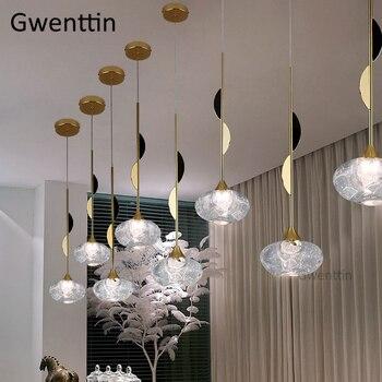 Luz Colgante De Burbuja | Moderno Cristal De Burbuja Luces Colgantes Led Oro Lámpara Colgante Sala De Estar Cocina Iluminación Accesorios Suspensión Luminaria Desván Decoración
