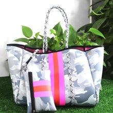 Luxus Frauen Schulter Tasche Große Neopren Licht Handtaschen Bolsas Weibliche Reise Urlaub Handtaschen Designer Strand Taschen