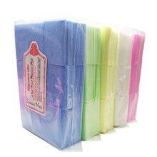 700 шт/пакет салфетки для снятия лака ногтей очищающие безворсовые