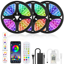 Goodland RVB LED Bande Lumineuse 12V Ruban LED Lumières Bande Bande RVB 5050 2835 Flexible Diode Ruban pour Chambre Rétro-Éclairage TV Bluetooth