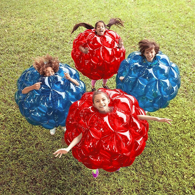 Inflatable 24'' Wearable Buddy Bumper Zorb Balls Heavy Duty Durable PVC Viny Bubble Soccer Balls Outdoor Game For Kids Play Fun